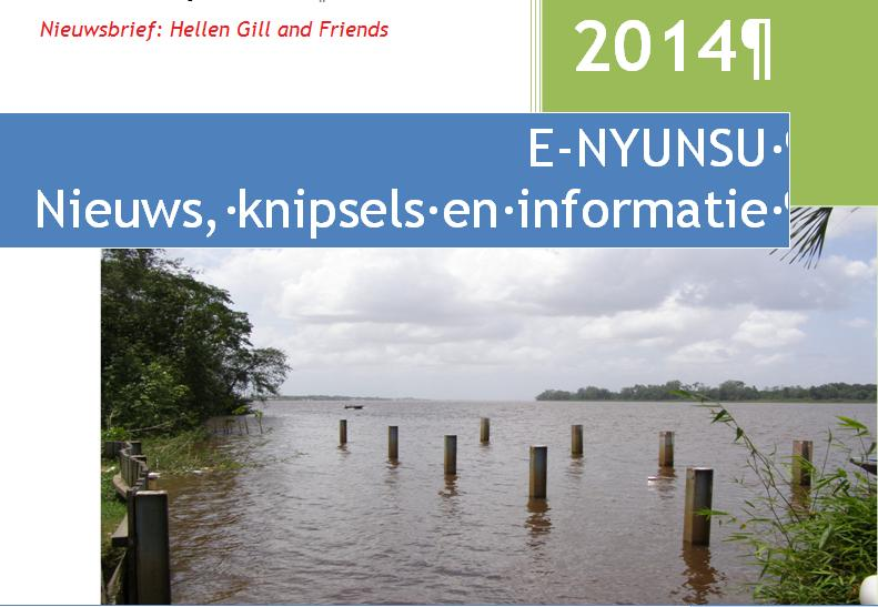 E-nyunsu, nieuwsbrief van Hellen Gill and Friends.