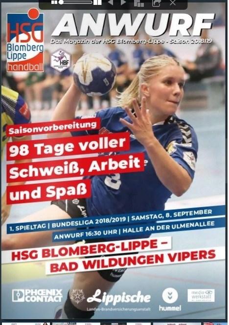 Handbal in Blomberg, Bundesliga Duitsland